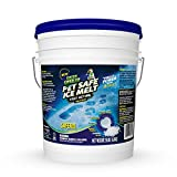 Green Gobbler Pet Safe Ice Melt Fast Acting Treatment | Magnesium Chloride Ice Melt Pellets | Pet & Plant Safe Ice Melter (15lb Pail)