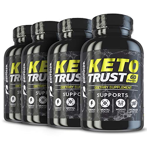 4 Pack Keto Diet Pills Weight Loss Supplement Fat Burner Advanced Extract Formula - Garcinia Cambogia - Raspberry Ketones, Green Coffee Bean, Green Tea All Natural, Ketogenic Diet for Women and Men 1