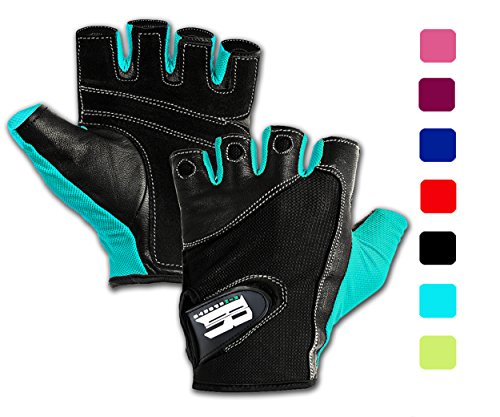 RIMSports Weight Lifting Gloves for Gym-Gym Gloves w/Washable-Ideal Rowing Gloves, Workout Gloves,Training Gloves, Support Gloves-Premium Gloves for Lifting Weights Turquoise S