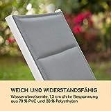 blumfeldt Renazzo Lounge Liegestuhl Sonnenliege Gartenliege Liegefläche weiß grau - 4