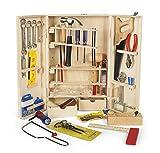 Leomark Taller De Carpintero Conjunto Caja De Madera Herramientas Construcción Juguetes 50 Piezas para Niños Muchos Accesorios Dim: 9 x 25 x 44 (Altura) c