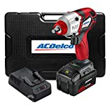 """ACDelco ARI20138A1-3M P20 Series 20V Cordless Li-ion 3/8"""" 430 ft-lbs. Heavy Duty Brushless Impact Wrench Tool Kit with Carrying Case"""