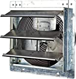 Iliving - 12' Wall-Mounted Exhaust Fan - Automatic Shutter - Single Speed - Vent Fan for Home Attic, Shed, or Garage Ventilation