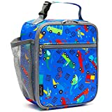 Kids Lunch box Insulated Soft Bag Mini Cooler Back to School Thermal Meal Tote Kit for Girls, Boys by FlowFly,Car