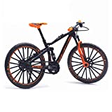 Mini Bicycle Model, Finger Bikes Toys, Zinc Alloy Diecast Racing Bicycle Mountain Bike Decoration Crafts, 1:10 Scale Curved Simulation Toys, for Kids Boys Office Racing Club