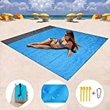 """Mumu Sugar Sand Free Beach Blanket, Large Oversized Waterproof Quick Drying Ripstop Nylon Compact Outdoor Beach Mat Best Sand Proof Beach Mat for Travel, Camping, Hiking and Music Festivals(82"""" X79"""")"""
