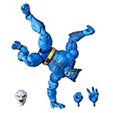 Marvel Hasbro Legends Series 6' Collectible Action Figure Beast Toy (X-Men Collection)  with Caliban Build-A-Figure Part