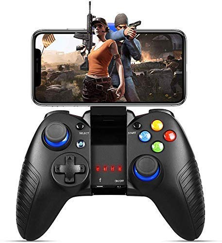 Mobile Game Controller, Gaming Controller Wireless 4.0 Gamepad Compatible with iOS Android iPhone iPad Samsung Galaxy