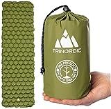 TRINORDIC Matelas de camping gonflable ultraléger, pliable et léger pour une place, matelas...