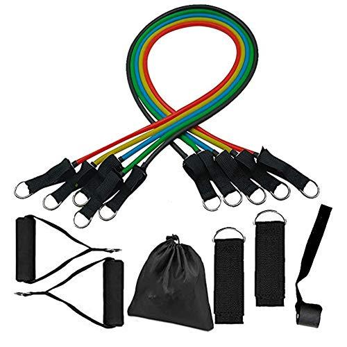 XDSP Bande di Resistenza, 5 Bande Elastiche con Differenti Resistenze, Set Elastici Fitness Pull Up...