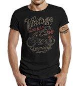 GASOLINE BANDIT Biker Camiseta Original Diseno: Vintage Racer -XXL