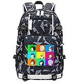 GOYING My Hero Academia Midoriya Izuku Character Avatar Stitching Anime Laptop Backpack Bag Travel Laptop Daypacks Bolso Ligero con USB-A