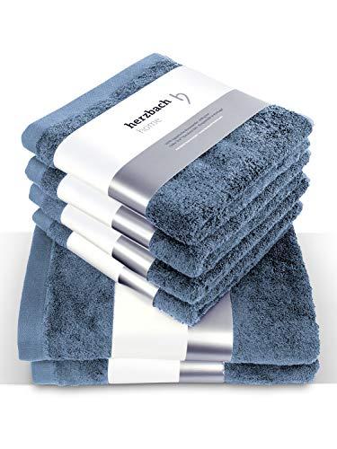 herzbach home Juego de toallas de lujo de alta calidad, 100%