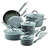 Rachael Ray Cucina Nonstick Cookware Pots and Pans Set, 12 Piece, Sea...