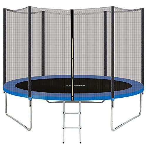 AMGYM Trampolin 244 cm Sports Outdoor Gartentrampolin Komplettset inklusive mit Sicherheitsnetz, Leiter,...