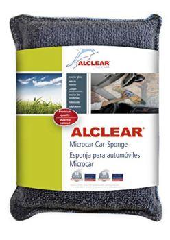 ALCLEAR 950014 Microcar Ultra-Microfibre Car Sponge against misty windows, 13x10x3.5 cm anthracite blue, always super-soft