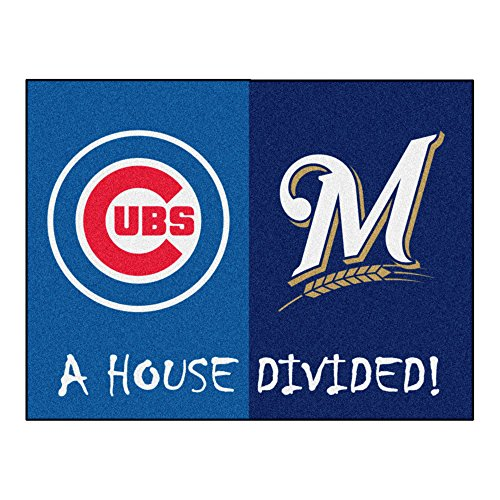 FANMATS MLB House Divided - Cubs/Brewers House Divided Rug