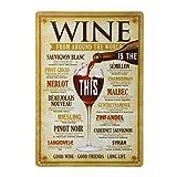 WINOMO Retro Poster Métallique Affiche Peinture Art Décoratif Vintage pour Bar Café Pub 20cmx30cm Vin