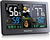 Newentor Weather Station Wireless Indoor Outdoor Thermometer, Color Display Digital Weather...