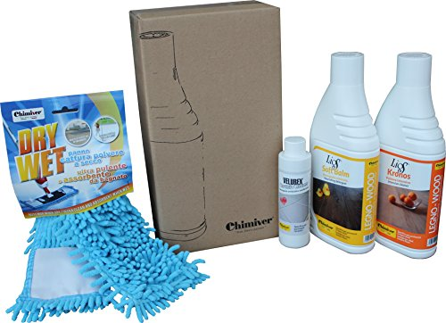 Kit pulizia parquet oliati. Set per la manutenzione/detergenza di pavimenti in legno oliati: 1L di...