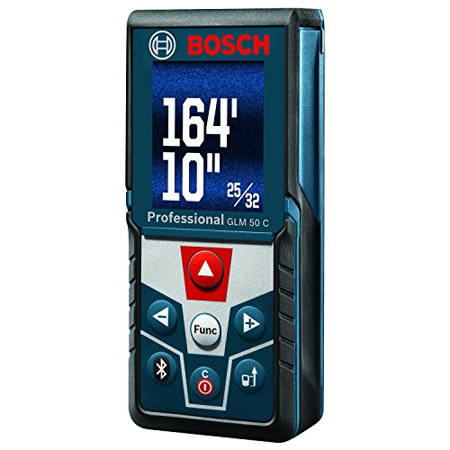 Bosch Blaze GLM 50 C Bluetooth Enabled 165' Laser Distance Measure with...
