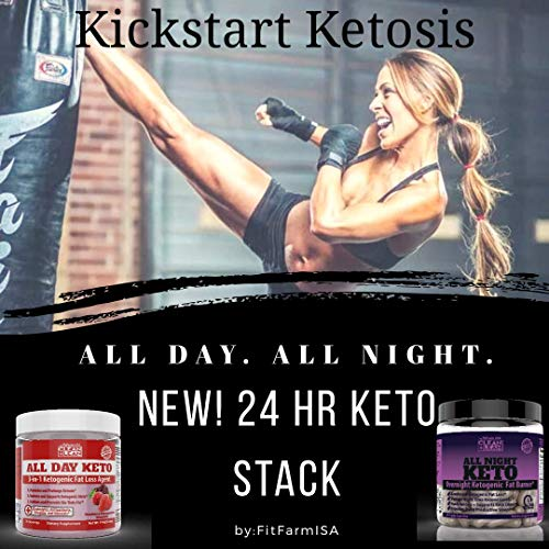 All Day Keto 3-in-1 Ketogenic Fat Loss Agent MCT Oil Extract, Organic Caffeine, prebiotic Inulin Fiber, Aquamin Aquatic Mineral Complex + Immunity Vitamins antioxidants 6