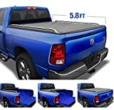 Tyger Auto T2 Low Profile Soft Roll Up Truck Bed Tonneau Cover for 2009-2019 Dodge Ram 1500 2019 Classic Only Fleetside 5.7' Bed without Ram Box TG-BC2D2064