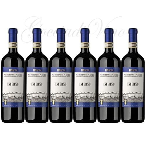 6 Bottiglie INFERNO Valtellina Superiore 2017 DOC Triacca