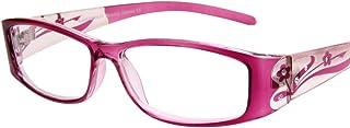 (レンサン) LianSan老眼鏡 レディース おしゃれ スクエア リーディンググラス シニアグラス ケース付き L3711 ピンク +1.75