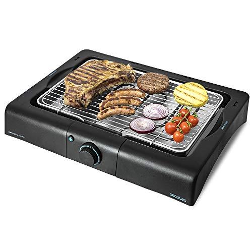 Cecotec Barbacoa eléctrica PerfectCountry BBQ con 2000 W de Potencia y Revestimiento RockStone (Sin Patas)