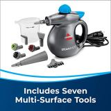 BISSELL SteamShot Hard Surface Steam Cleaner with Natural Sanitization, Multi-Surface Tools Included to Remove Dirt, Grime, Grease, and More, 39N7V