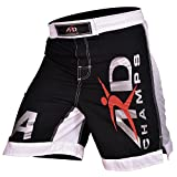 ARD New Extreme MMA Fight Shorts UFC Cage Fight Grappling Muay Thai Boxing Black (Large)