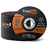Truswe Cut Off Wheels 52 Pack,4 1/2 Inch,0.48 USD/Pack,Metal and Stainless Steel Cutting Wheel for Angle Grinder,Ultra Thin Cut-Off Wheel Cutting Disc