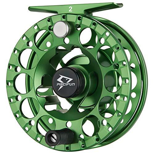 Piscifun Sword  Leggero Mosca Mulinello con Corpo in Lega di Alluminio fresato CNC 3/4, 5/6, 7/8(Nero, Verde), Sword Green Fly Reel, Sword Fly Reel 1(3/4wt)