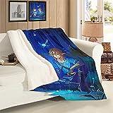 VICWOWONE The Legend Of Zelda Manta estampada de terciopelo de cordero para decoración de habitación, manta multifuncional, tamaño 50 x 70 pulgadas