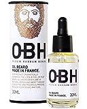 Huile à Barbe 100% Naturelle OBH® | Soin Bio-actif pour Homme | Entretien de la Barbe | Hydrate & Stimule la Pousse | Huile d'Argan & Pépins de Raisin Bio | Vitamine E | Fabriquée en France