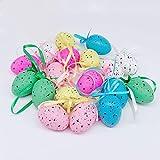 Redsa Mini-Ostereier zum Aufhängen, Ostereier, Dekoration, mehrfarbig, Kunststoff, 36 Stück