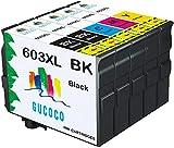 GUCOCO 603 XL Cartouche d'encre Compatible avec Epson 603 603XL pour Epson Expression Home XP-2100 XP-2105 XP-3100 XP-3105 XP-4100 XP-4105 Epson Workforce...