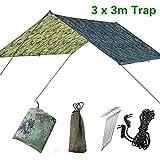Doofang Camping Bâche Anti-Pluie Rain Tarp Toile de Tente Imperméable Abri de Randonnée Pliable Portable,...
