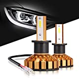 H3 LED Headlight Bulbs Anti-flicker All-in-One Conversion Kit, 10000 Lumens (6000K Xenon White) Hid or Halogen Head light Replacement by Max5