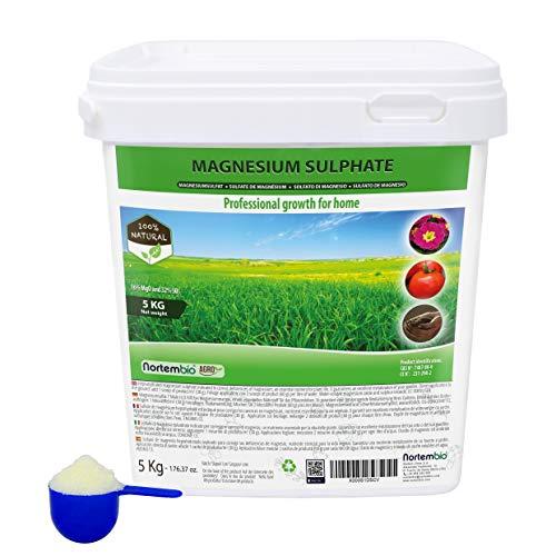 Nortembio Agro Sulfato de Magnesio Natural 5 Kg. Abono de Us