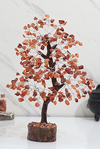 Zaicus Carnelian Gemstone Money Tree Feng Shui Bonsai for...