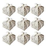 STOBOK 50 Piezas de Cajas de Dulces con Forma de Arabes en Forma de arabescos, Cajas de Regalo de...