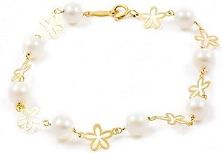 Bracciale per bambini perle - oro giallo 18k (750)