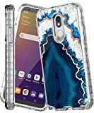 IN4U LG Stylo 5 Case, Full Body Military Grade Shockproof 3in1 Marble Design 360 Protective Cover for Lg Stylo5 [2019 Released] (Blue Agate)