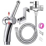 Handheld Bidet Toilet Sprayer, ABS Bathroom Bidet Sprayer Set, Baby Cloth Diaper Sprayer, Bidet Cleaning System Kit (Sliver)