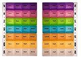 Promemoria per pillole con contenitori trasparenti e colorati. Organizer settimanale per pillole, fino a 4 volte a settimana. Organizer rimovibile per pillole, fino a 4volte al giorno. Con 28scompartimenti profondi per pillole. Organizer PuTwo con ...