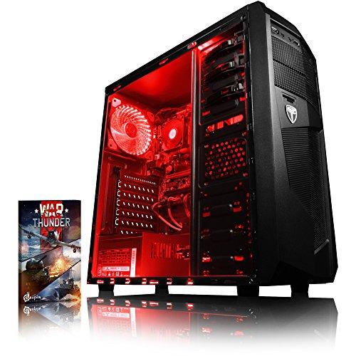 Vibox Sniper 10XW PC da Gaming, Processore Intel Core i7 4790 Quad Core, RAM 16GB, SSD da 120GB, HDD da 2TB, Scheda Grafica nVidia GeForce GTX 970 Maxwell da 4GB, Rosso