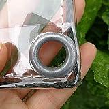 Bâche en Plastique imperméable de PVC de Transparente avec des Oeillets, des couvertures de Feuille d'usine de Fleur Anti-Pluie, 400g / m² (Taille : 2m×3m)