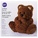 Wilton Teddy Bear 3D Cake Pan Set, a Teddy Bear Made of Cake, Surprise Your Child with a Birthday Cake to Remember, Decorate it Like a Panda or Your Favorite Lovable Bear, 2-Piece